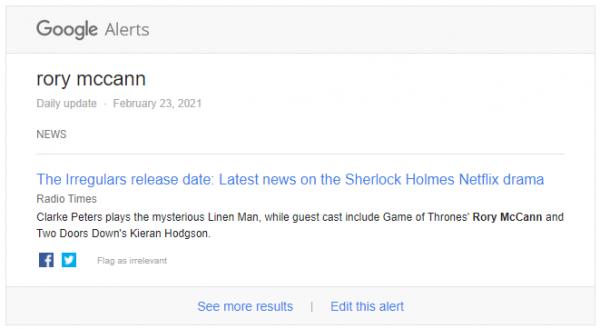 Google Alert 23 Feb 2021