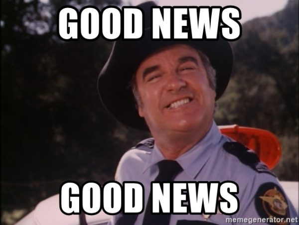 good news, good news!