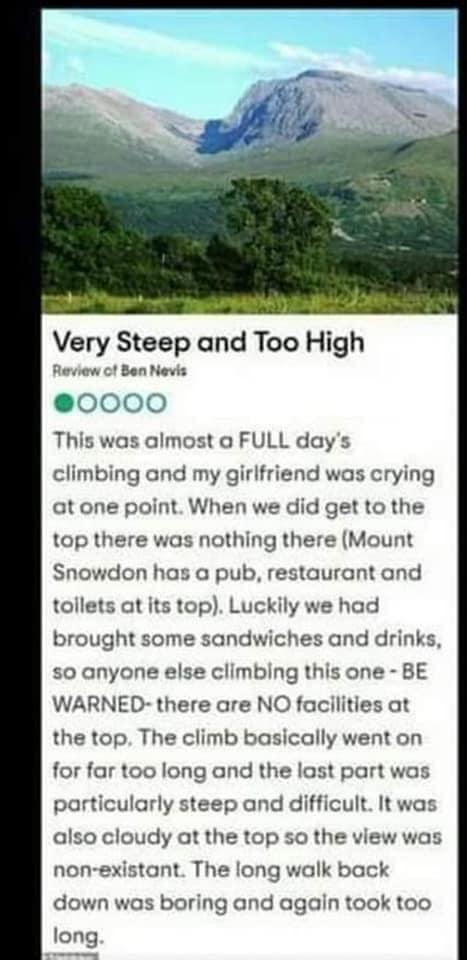 Very Steep and Too High