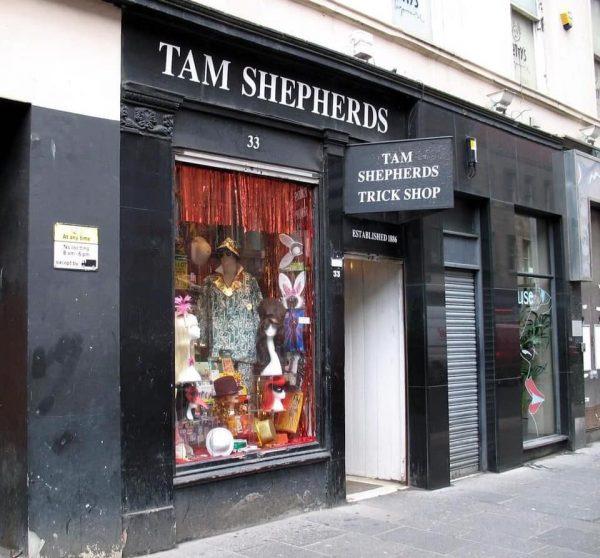 Tam Shepherds joke shop, Queen Street, Glasgow, Scotland
