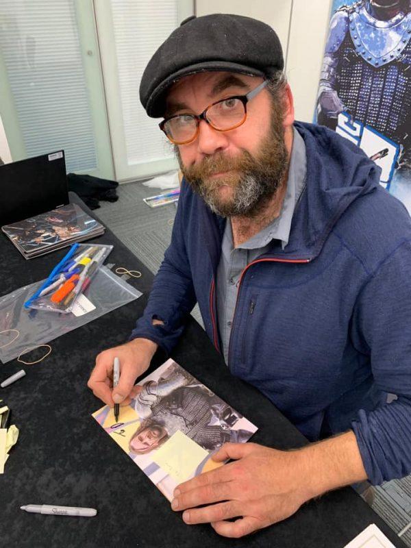 Rory McCann starting my autograph