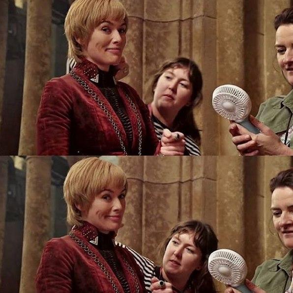 Lena Headey, somebody, and Sally-Gay McCann