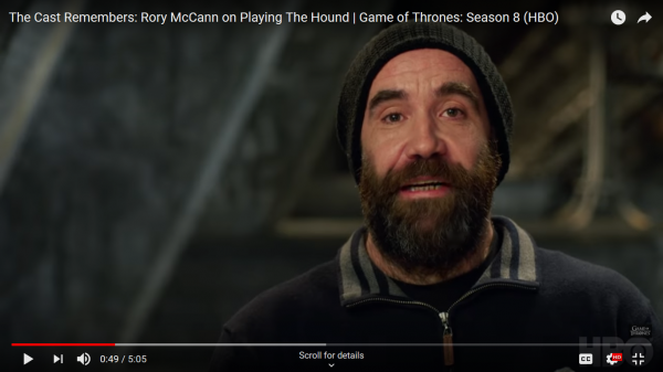 Rory remembers GOT